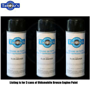 1965-1969 Oldsmobile Bronze Engine Paint 400 Spray Can Set Of 3 New