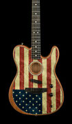 Fender Limited Edition American Acoustasonic Telecaster - American Flag 7477a
