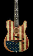 Fender Limited Edition American Acoustasonic Telecaster - American Flag 7432a