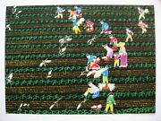 Chinese Gouache Painting Modern Contemporary China Farm Young People 1981 Signed