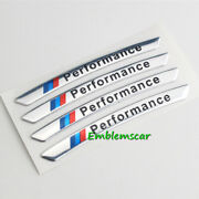 4pcs Silver Performance Decal Car Wheels Rims Racing Sticker Decora Fit For Bmw