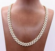 9mm Miami Cuban Edge Cz Chain Necklace Box Clasp Real 10k Yellow Gold