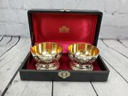 Corbell And Co. Silver-plate And Gold Lined Washed Dessert Cups With Box