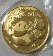 2006 Gold China 500 Yuan Panda Sealed 1 Oz Coin