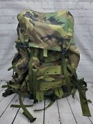 Military Cfp 90 Woodland Camouflage Backpack Field Pack Large W/ Internal Frame