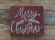 Merry Christmas Sign Primitives By Kathy Rustic Wood Primitive Wall Shelf Decor
