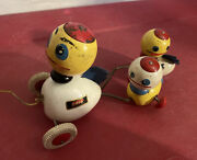 Antique Brio Wooden Duck Pull Toy Vintage Pull Along Wooden And Metal