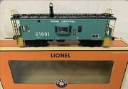 ✅lionel Penn Central Smoking Bay Window Caboose 6-17662 For Diesel Engine Smoke
