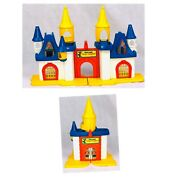 1977 Mickey Mouse Magic Kingdom Weebles Castle Playset Vtg Hasbro Collectible