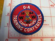 1964 O.a. Training Conferencre Camp Minsi Collectible Patch Ri