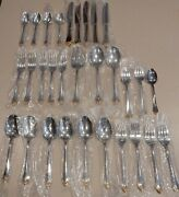 30 Pc. Community By Oneida Golden Kenwood Stainless Flatware Gold Accent