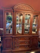 Hickory White Breakfront China Cabinet Legends