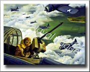 Wwii Navy Art - Ready For Action Canvas Print 2d