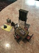 Vintage Lot Of 12 Miniature Wooden Doll House Furnitures Collectibles