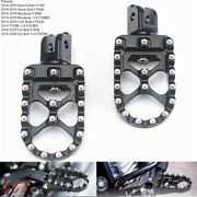 Cnc Billet Wide Foot Pegs Pedals For Harley Fat Bob Fxfb Fxfbs 2018 2019 2020