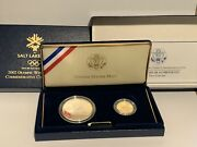 2002 Olympic Winter Games Commemorative 2 Coin Set Us Mint Proof Coins - No Lid