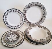 Setting For 2 Wedgwood Plymouth Williams Sonoma Bown Oak Acorn Dinner Plates++