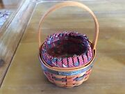 1997 Longaberger Inaugural Basket Combo 3 Piece W/liner Protector Mint Condition