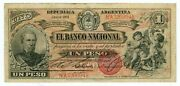 Argentina Andhellip P-s1091a Andhellip 1 Pesos Andhellip 1888 Andhellip Choice F-vf Serie 001-prefix A