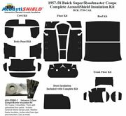 1957 1958 Buick Super Roadmaster Coupe Complete Acoustic Insulation Kit
