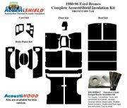1980 - 1996 Bronco Truck Complete Acoustic Insulation Kit