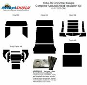 1933 1935 Chevrolet Standard Coupe Complete Acoustic Insulation Kit