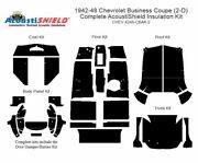 1942 - 1948 Chevrolet Business Coupe Complete Acoustic Insulation Kit