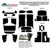 1949 - 1952 Chevrolet Styleline Coupe Complete Acoustic Insulation Kit