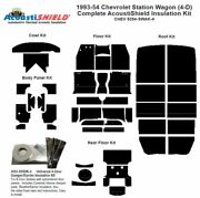 1953 - 1954 Chevrolet 4 Door Station Wagon Complete Acoustic Insulation Kit