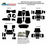 1961 1962 Chevrolet Convertible Complete Acoustic Insulation Kit