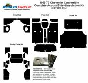 1965 - 1970 Chevrolet Convertible Complete Acoustic Insulation Kit