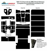 1967 - 1972 Chevy Panel Delivery Complete Acoustic Insulation Kit