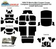 1959 - 1970 Morris Mini Cooper Coupe Complete Acoustic Insulation Kit
