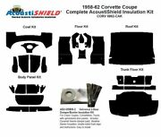 1958 - 1962 Chevy Corvette Coupe And Convertible Complete Acoustic Insulation Kit