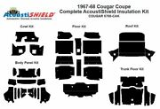 1967 - 1968 Cougar Coupe Complete Acoustic Insulation Kit