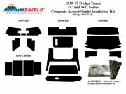1939 - 1947 Dodge Truck Complete Acoustic Insulation Kit