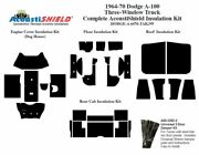1964 - 1970 Dodge A 100 Series 3 Window Truck Complete Acoustic Insulation Kit