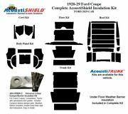 1928 1929 Ford Model A Coupe Complete Acoustic Insulation Kit