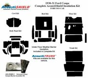 1930 1931 Ford Model A Coupe Complete Acoustic Insulation Kit