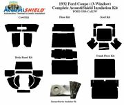 1932 Ford Car 3 Window Coupe Complete Acoustic Insulation Kit
