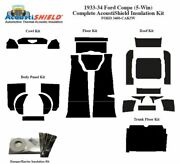 1933 1934 Ford Car 5 Window Coupe Complete Acoustic Insulation Kit