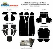 1935 1936 Ford 3 Window Coupe Complete Acoustic Insulation Kit