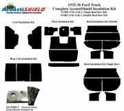 1935 1936 Ford Truck Complete Acoustic Insulation Kit Single Headliner Roof Bow