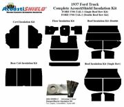 1937 Ford Truck With Single Headliner Roof Bow Complete Acoustic Insulation Kit