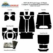 1937 - 1939 Ford 3 Window Coupe Complete Acoustic Insulation Kit