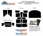 1977 - 1979 Ford Ltd Ranchero Complete Acoustic Insulation Kit