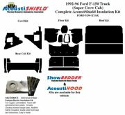 1992 - 1996 Ford Truck Super Crew Cab Complete Acoustic Insulation Kit