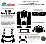 1967 - 1969 Mg C Roadster Complete Acoustic Insulation Kit