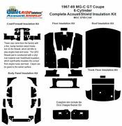 1967 - 1969 Mg C Gt Coupe Complete Acoustic Insulation Kit
