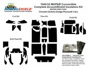 1949 - 1952 Dodge Chrysler Plymouth Desoto Convertible Complete Insulation Kit